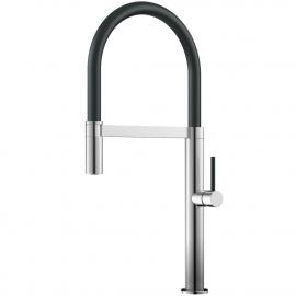 الفولاذ المقاوم للصدأ صنبور المطبخ خرطوم السحب / مطلي بالفرشاة / أسود - Nivito SH-200